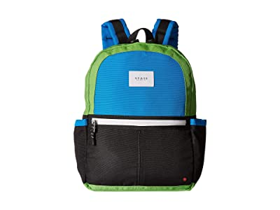 STATE Bags Kids Kane Color Block (Black/Green) Backpack Bags