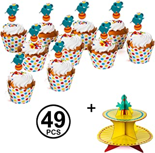 Tigerdoe Circus Cupcake Topper - Circus Cupcake Stand - Cupcake Wrappers and Toppers - Carnival Cupcake Stand - Circus Cupcake Liners