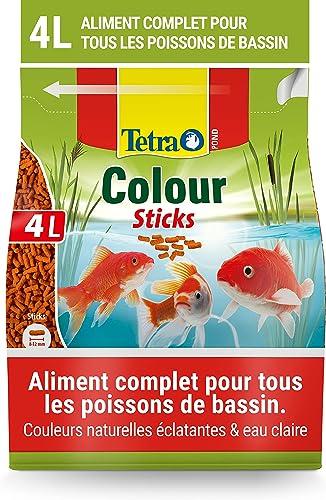 Tetra Pond Colour Sticks – Alimentation Equilibrée pour les Poissons de Bassin à Couleurs vives – Enrichi en Oligo-él...