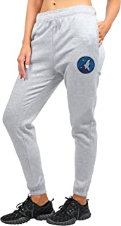 Ultra Game Women's Jogger Pants Active Logo Fleece Sweatpants