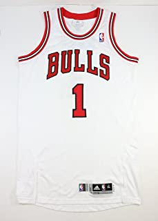DERRICK ROSE JANUARY 3rd 2012 GAME USED WORN CHICAGO BULLS HOME JERSEY W/ BULLS LOA