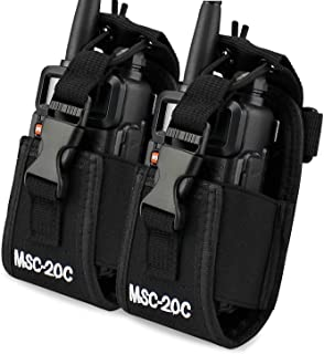 abcGoodefg 3in1 Multi-Function Universal Pouch Bag Holster Case for GPS PMR446 Motorola Kenwood Midland ICOM Yaesu Two Way...