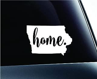 #3 Home Iowa State Des Moines Symbol Sticker Decal Car Truck Window Computer Laptop (White)