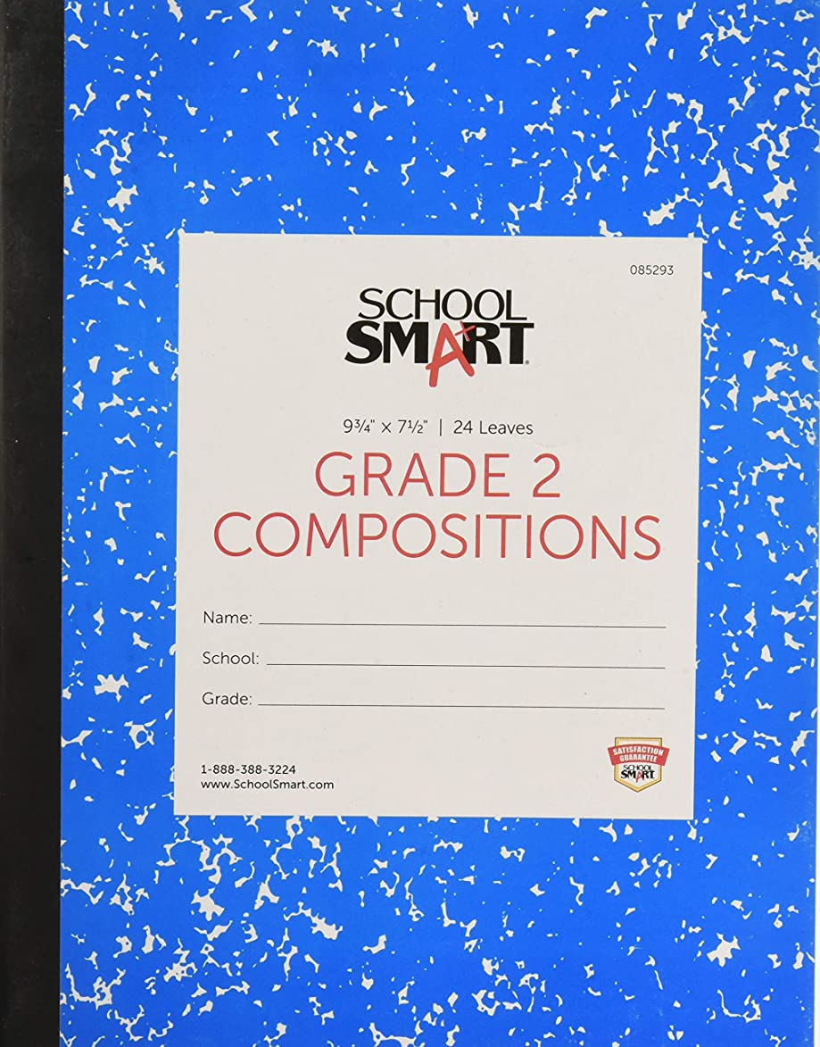School Smart Skip-A-Line Ruled Composition Book, Grade 2, Blue, 48 Pages