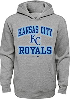 "MLB Kansas City Royals Boys Outerstuff ""Team City"" Pullover Hoodie, Grey, Youth X-Large (16-18)"