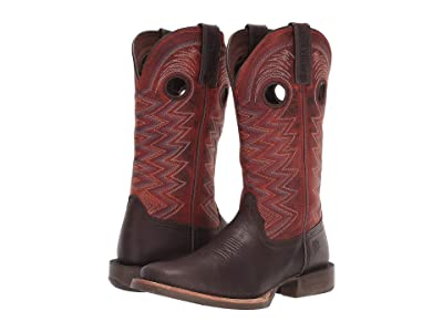 Durango 12 Lady Rebel Pro Western (Dark Chestnut/Crimson) Women