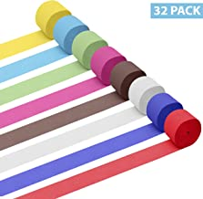 Papel Crepe (Pack de 32) - Papel Pinocho 28m x 4,5cm por rollo para Manualidades Tiras 16 Colores (2 de Cada Uno) - Papel Crepe Pinocho Para Decoraciones de Cumpleaños, Bodas, Festivales y Fiestas