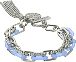 GUESS Link Toggle Bracelet with Charm & Tassel