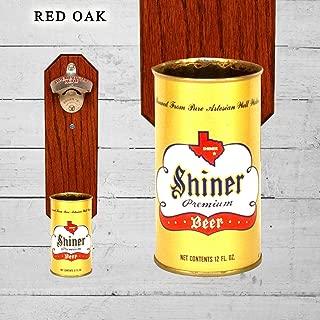 shiner bock wall mounted bottle opener