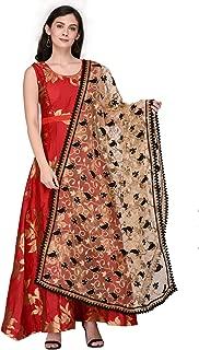 Dupatta Bazaar Woman's Net Dupatta with Embroidery.
