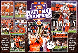"""CLEMSON'S 3 National Titles in Sports Illustrated 19""""x13"""" Commemorative Covers Poster"""