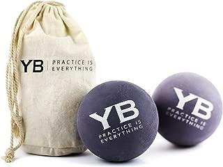 YOGABODY Jumbo Yoga Massage Balls with Canvas Bag, 2 Piece
