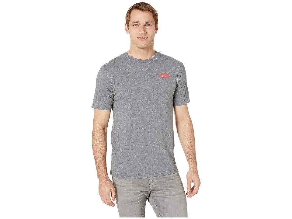 The North Face Short Sleeve Red Box Tee (TNF Medium Grey Heather/Fiery Red) Men