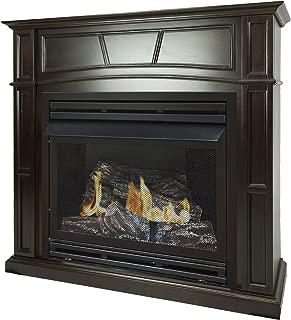 Pleasant Hearth 46 Full Size Tobacco 32,000 Liquid Propane Vent Free Fireplace System 32K BTU, Rich