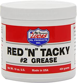 """Lucas Oil Red""""N"""" Tacky Grease, 1 Pound Tub"""