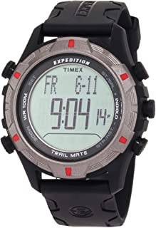 Timex Expedition Fullsize Quartz Watch with LCD Dial Digital Display and Black Resin Strap T49845SU