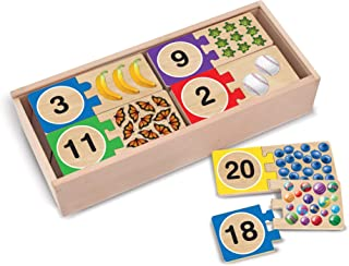 Melissa & Doug Self-Correcting Number Puzzles (Developmental Toys, Wooden Storage Box, 40 Pieces, Great Gift for Girls and Boys - Best for 4, 5, and 6 Year Olds)