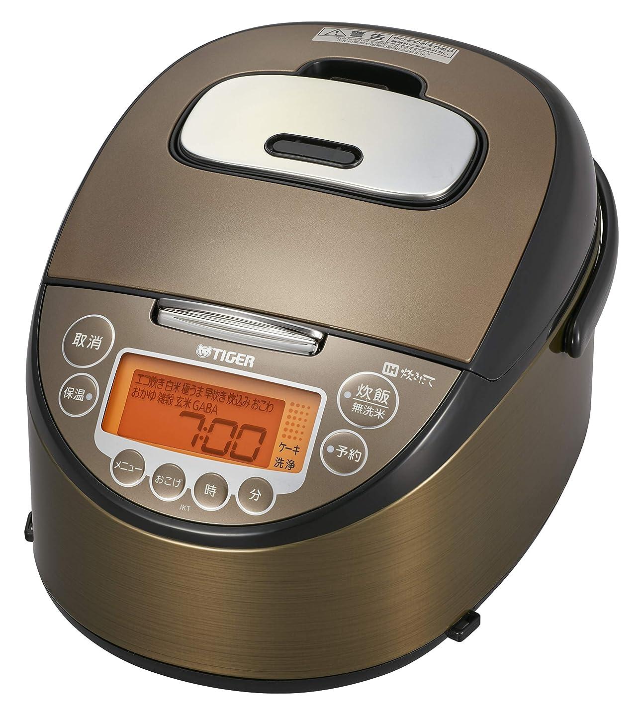 ファントム質素なキラウエア山タイガー 炊飯器 5.5合 IH 炊き分けメニュー 炊きたて JKT-B103-TK