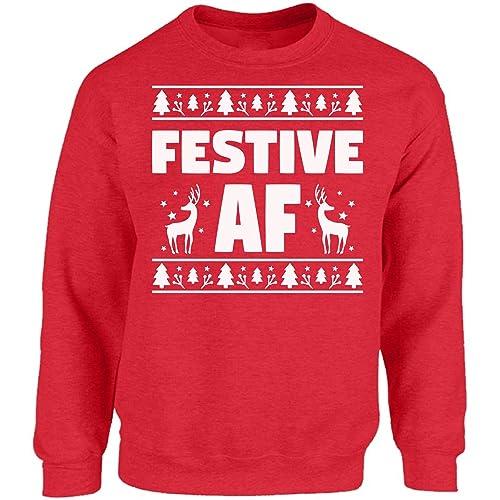 0ac6eba1981438 Vizor Festive AF Sweatshirt Festive AF Sweater Ugly Christmas Festive  Sweater Festive Holiday Sweaters