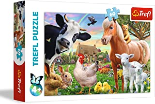 Trefl 17320 Cheerful Farm Unisex Puzzle, 60 Pieces