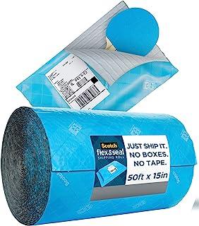 Scotch Flex en Seal Shipping Roll 5 ft x 15 inch, zo gemakkelijk als gesneden, vouwen, drukken om veilig te verzegelen pak...