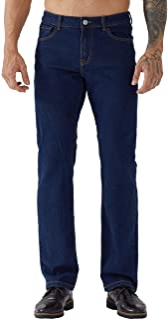 ZLZ Regular Fit Denim Jeans for Men, Mens 5-Pockets Classic Straight Leg Jean Pants