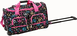 Rockland Luggage Rolling 22 Inch Duffle Bag, Peace, One Size