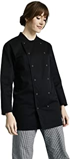 0984b6522c30 Simon Jersey Unisex Long Sleeve Chef's Jacket, Black for Chef's and  Catering Uniforms