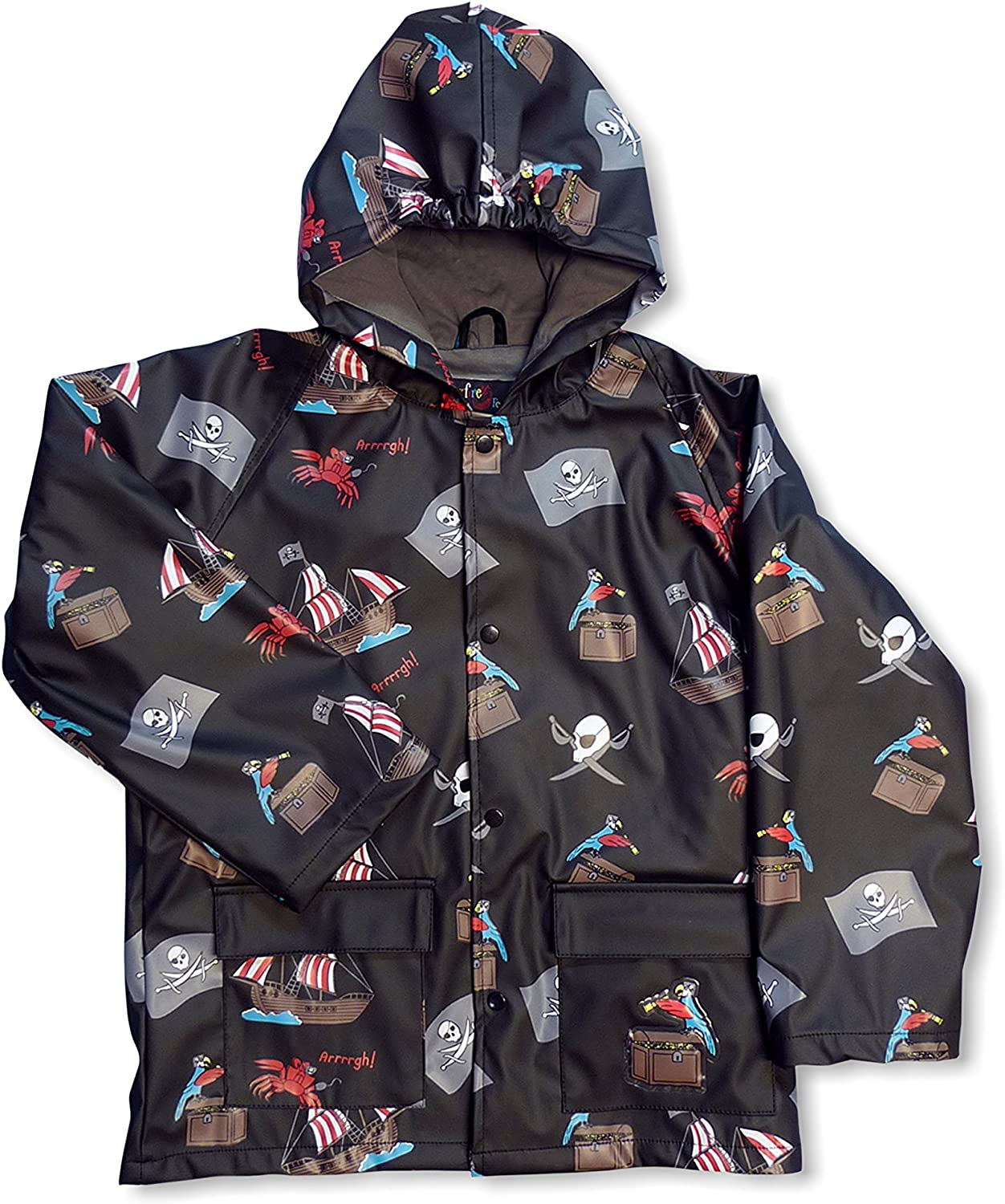 It is very popular Foxfire For Kids Max 71% OFF Boys Raincoat Theme Pirate Black