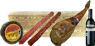 comprar comparacion Cesta de Navidad Barata con Jamón, Queso, Chorizo, Salchichón y Vino.