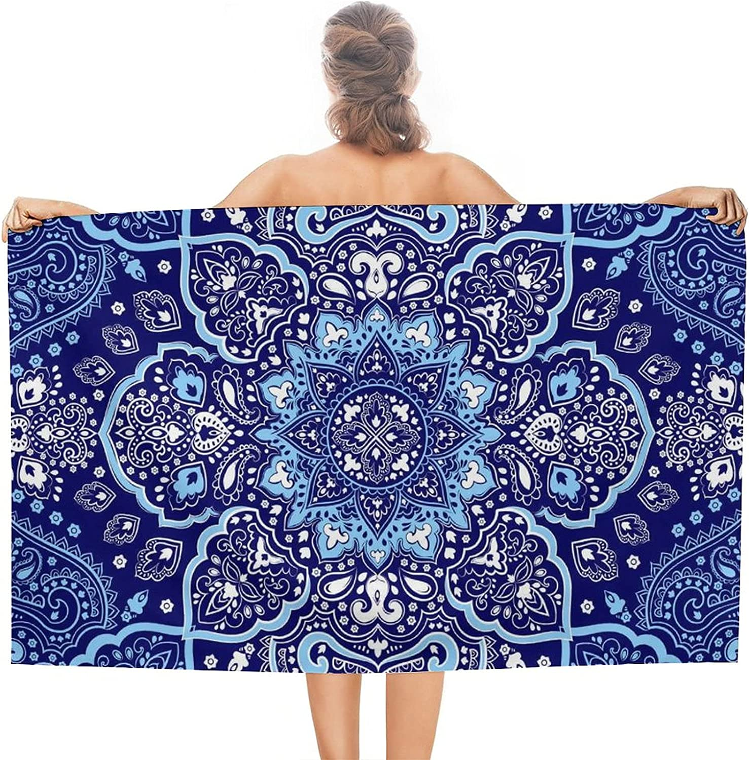 Boho Style Large Lightweight Beach Bat Towel Absorbent Quick Dry Max 61% safety OFF