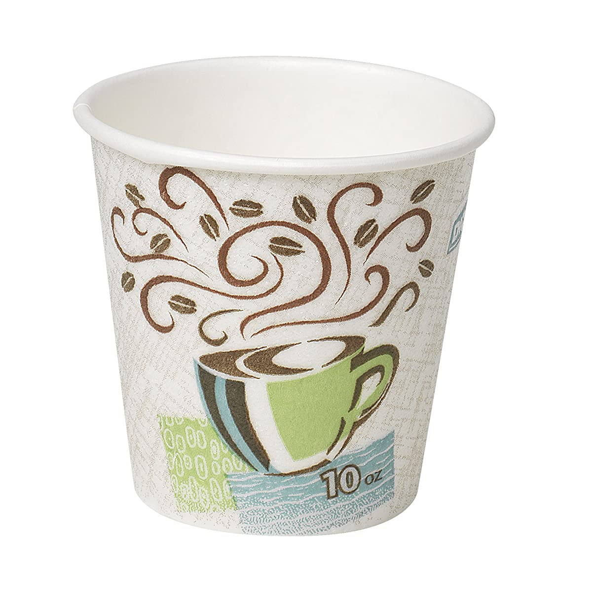 Dixie PerfecTouch 10 oz. Insulated Paper Hot Coffee Cup by GP PRO (Georgia-Pacific), Coffee Haze, 5310DX, 500 Count (25 Cups Per Sleeve, 20 Sleeves Per Case)