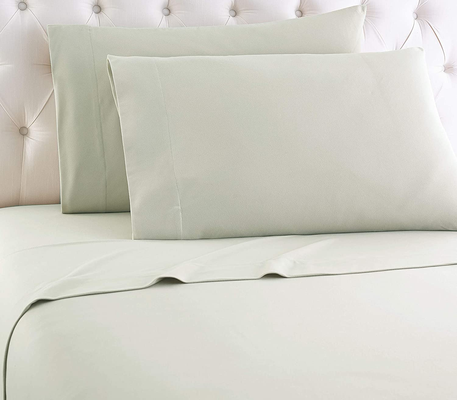 Thermee Micro Flannel Sheet Twin Mint Large special Raleigh Mall price Set