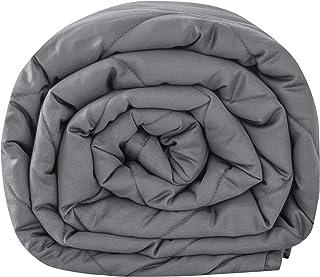 Leefun Gewichtsdecke 135x200CM,6KG Therapiedecke, 100% Baumwolle 7 Schichten Schwere Decke für Erwachsene, Gegen Schlafstörung und Stress, Weighted Blanket für 50-70kg Personen