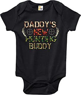 Baby Bodysuit - Daddy's New Hunting Buddy Baby Clothes for Infant Boys and Girls