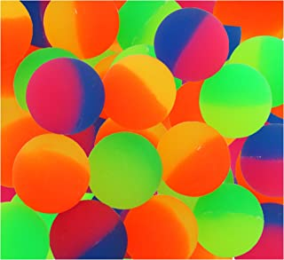ICY Superballs for Kids Prizes - 1.5 Inches Bright Two Tone Bouncy Balls - Pack of 24