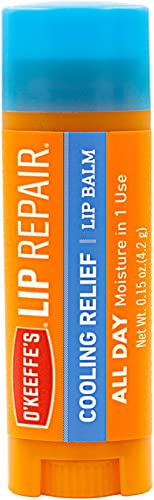 O'Keeffe's Cooling Relief Lip Repair Lip Balm for Dry, Cracked Lips, Stick