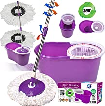 Crystals 360 Degree Spinning Mop Bucket Home Cleaner With Two Mop Heads in Purple Color