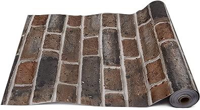 Store2508® Premium Self Adhesive Sticker Wallpaper, Rustic Bricks Design. Full Roll (0.45 * 10 Metres, 48 Square Feet)