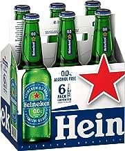 Malt Beverage Heineken 0.0 Non Alcoholic Beer 1 Pack of 6 Glass Bottles 11oz/331ml هينيكن بيرة بدون كحول