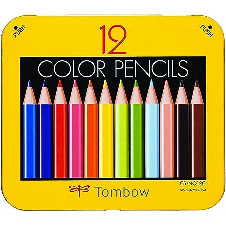 トンボ鉛筆 ミニ色鉛筆 NQ 12色 削り器付き BCA-151