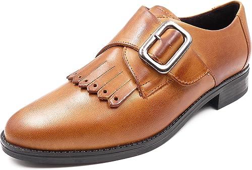 zapatos damas Tipo Ingles de la Marca Pitillos - Piel color Cuero - 5371-582 - 5331-578