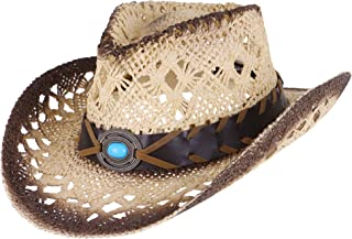 Simplicity Kid's Costume Party Cowboy Straw Sun Hat with Decorated Headband