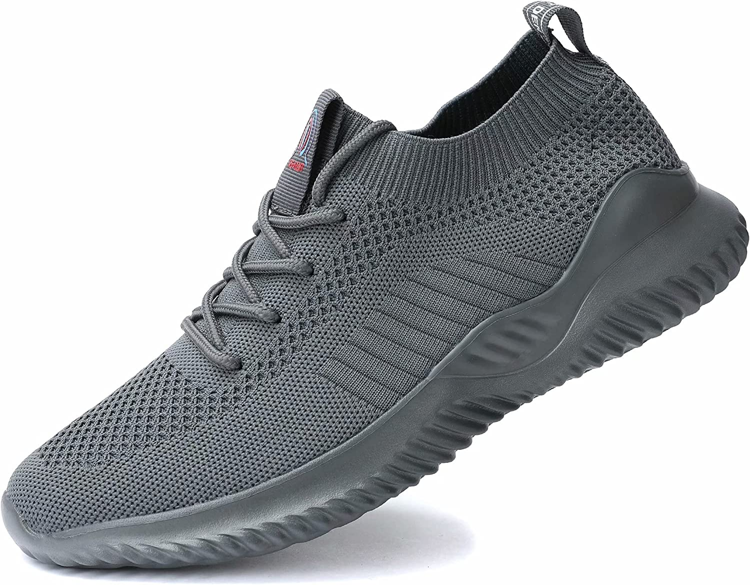 Mens Running Shoes Slip on Walking Tennis Sneakers Fashion Breathable Mesh Soft Sole Casual Lightweight Trainers