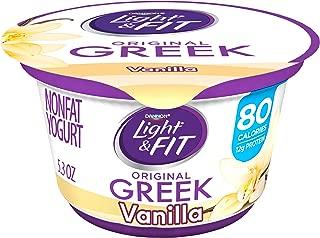 Dannon Light & Fit Greek Vanilla Nonfat Yogurt, 5.3 oz