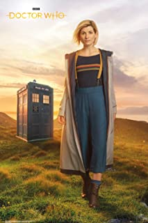 Pyramid International Doctor Who 13th Doctor Tardis Poster 24x36 Inch