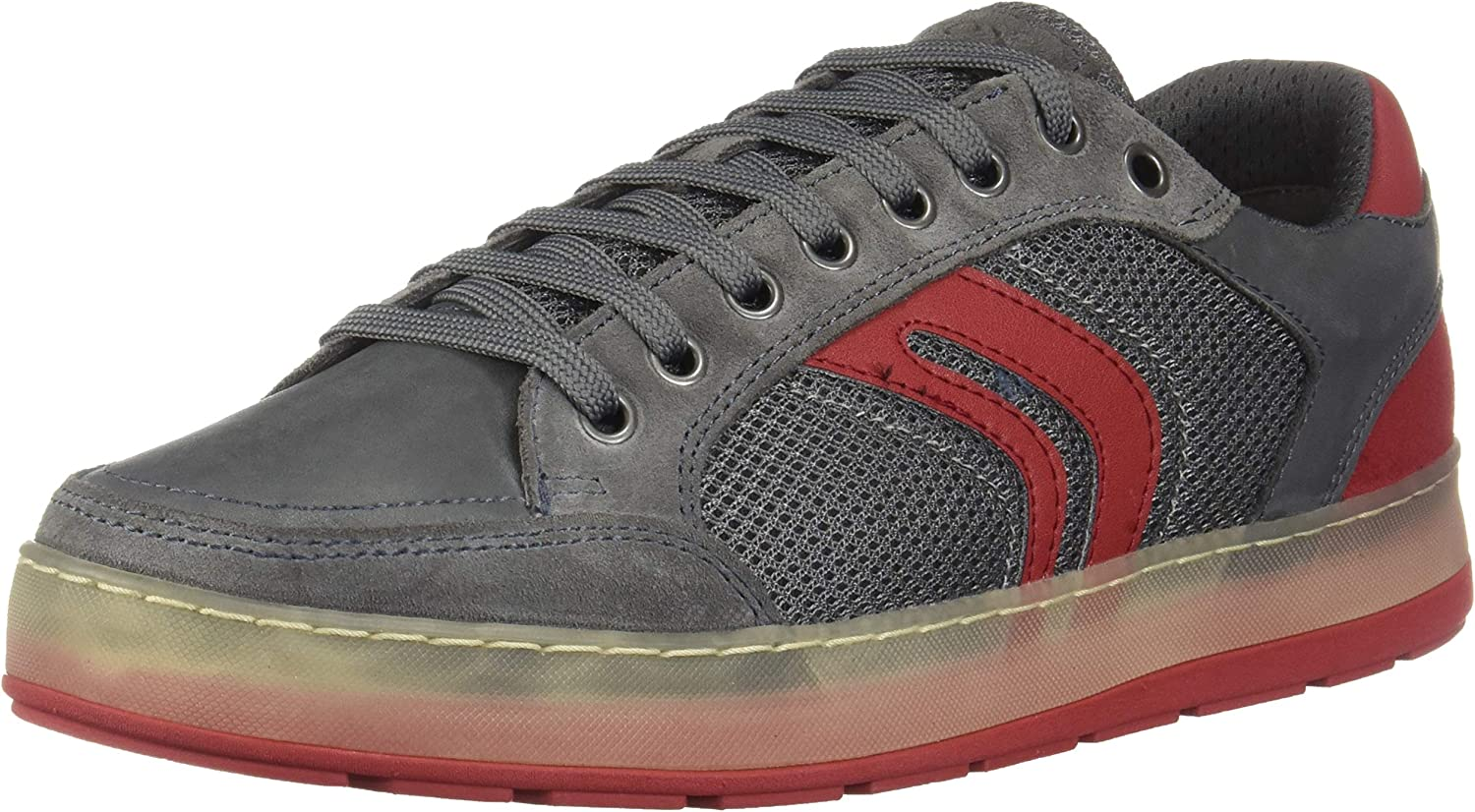 Geox Mens Ariam A Suede and Mesh Sneaker Sneaker