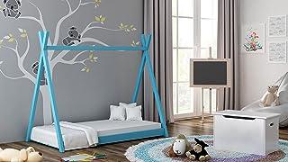 Children's Beds Home Lit à baldaquin Simple en Bois Massif - Style Tepee de Titus pour Enfants Enfants Enfant Junior - Pas...