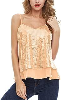 Best gold sequin sleeveless top Reviews
