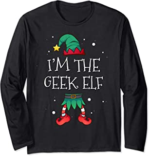 I'm The Geek Elf Matching Family Costume Clothing Christmas Long Sleeve T-Shirt